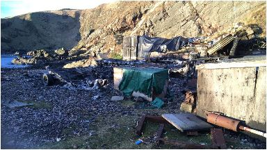 Cove Harbour: Five boats destroyed in 'suspicious' fire.