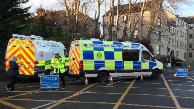 Grampian Court: Roads were closed off.