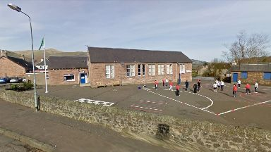 Earmarked: Coalsnaughton Primary School could close under budget proposals.