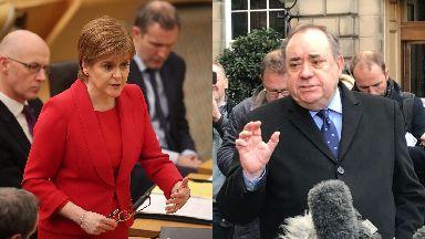 Probe: Sturgeon met Salmond during investigation.