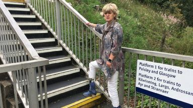 Campaign: Ms Hutton would like to see Lochwinnoch train station updated.