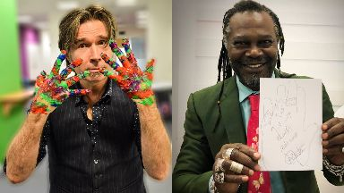 Supporters: Justin Currie and Levi Roots.