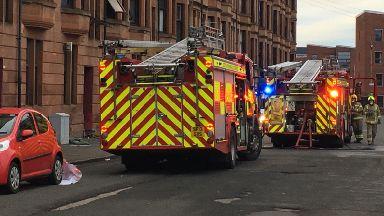 Govan: Three people taken to hospital.