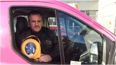 Trained: Drivers like Stephen will be able to use the defibrillators.