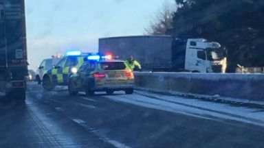 A90: The major route has been closed.