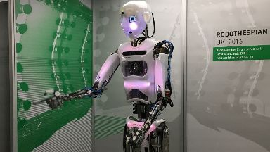 More than 100 robots are on display.