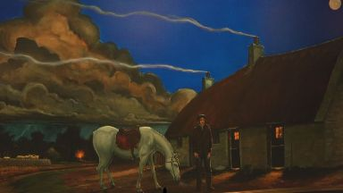 Poem: The paintings depict Tam o' Shanter.