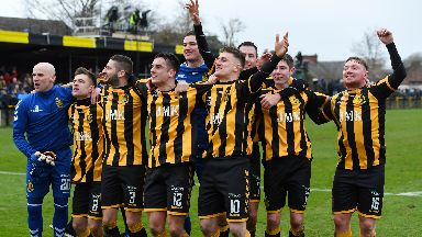 Juniors side Auchinleck Talbot knocked out Ayr United.