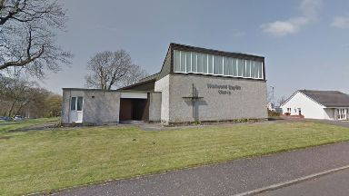 East Kilbride: A body was discovered on a path next to Westwood Baptist Church.