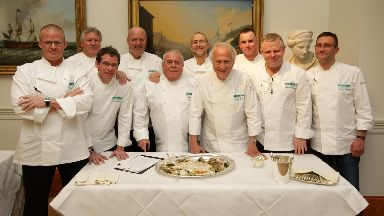 Andrew Fairlie, third from left, with a host of other top chefs .