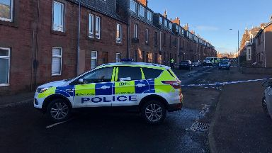 Police closed off the street following the incident.