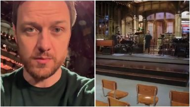 Rehearsing: James shared behind-the-scenes footage on Instagram.