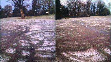 Damage: Camperdown golf course destroyed.