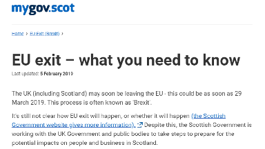 Scottish Government Brexit website.
