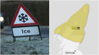Ice: Expected to cause rush-hour disruption.