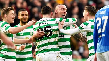 Scott Brown scored from long range to put Celtic  2-0 ahead.