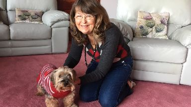 Lifesaving: Toby with owner Heather Jamieson.