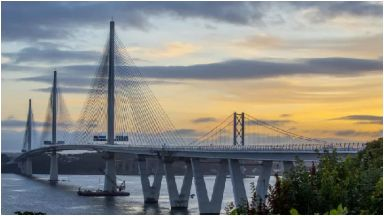 Winner: The Queensferry Crossing was named best infrastructure project in the UK.