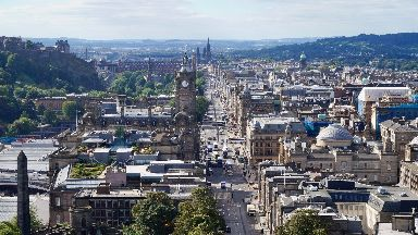 Edinburgh: Visitors flocked to the capital.