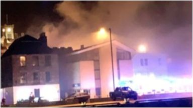 Lerwick: Firefighters worked on the blaze for three hours.