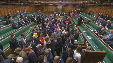 House of Commons: Latest in series of Brexit votes takes place.