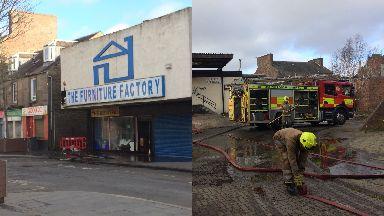 Dundee: The Furniture Factory went up in flames.