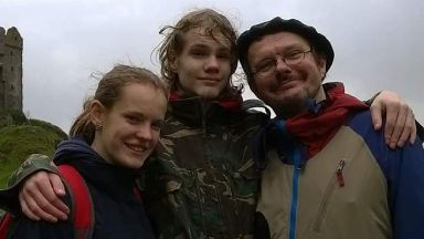 'Angry': Lena, her brother Lasse and her dad Jens-Uwe.