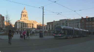 Money raised has funded tram lines in Nottingham.