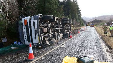 Crash: The road was closed in both directions.