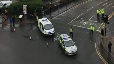 Glasgow University: Students and staff were evacuated.
