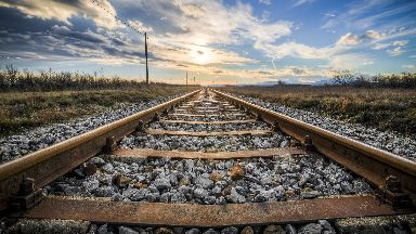 Railway: Train services have been cancelled.