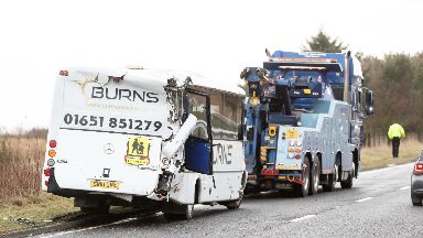 Accident: The crash happened on the A90.