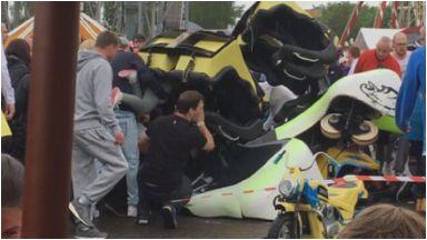 Five gondolas derailed in the incident.