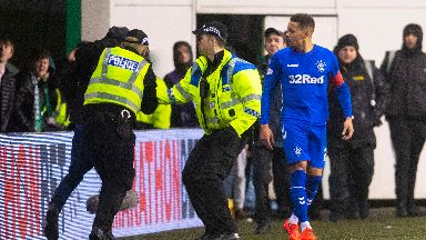 Tavernier was confronted by a fan who invaded the pitch.