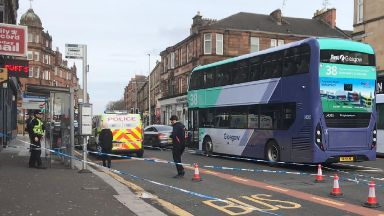 Shawlands: The street was cordoned off.