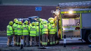 A90: Crash left three people dead.