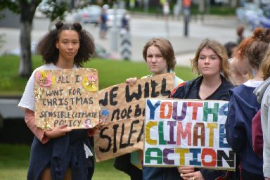 Climate protest: Councillors urged to 'see sense'.