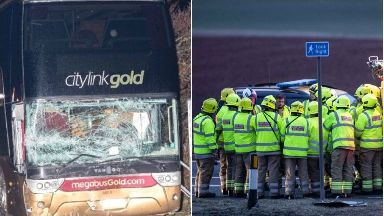 A90: Three people died in the crash.