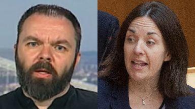 Tweet row: Stuart Campbell is suing Kezia Dugdale.