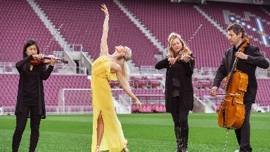 On the ball: The festival will open at Tynecastle Park.
