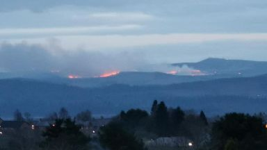 Fire: The blaze took hold in the Craigowl Hill area.