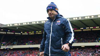 Defeat: Richard Cockerill's Edinburgh lost 17-13 to Munster at Murrayfield.
