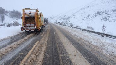 Traffic was at a standstill on the A9.
