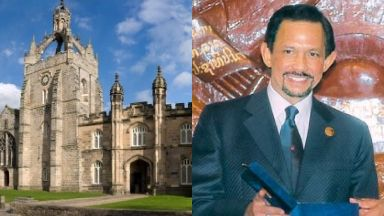 Sultan of Brunei: Review of degree at University of Aberdeen.