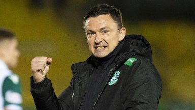 Results: Paul Heckingbottom has won five of his eight games in charge of Hibernian.