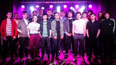 Superstars: Four bands went head-to-head in Glasgow.