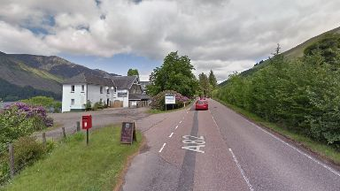 Crash: A82 near to the Letterfinlay Lodge Hotel.