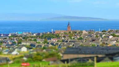 Orkney: The flight took off from Kirkwall.