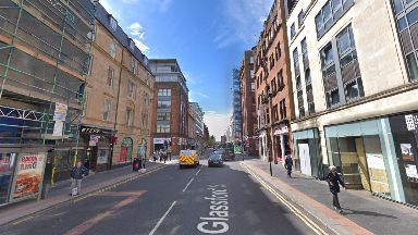 Glasgow: Anwar knocked down his victim in Glassford Street.