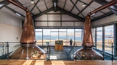 Inside the Ardnahoe Distillery.